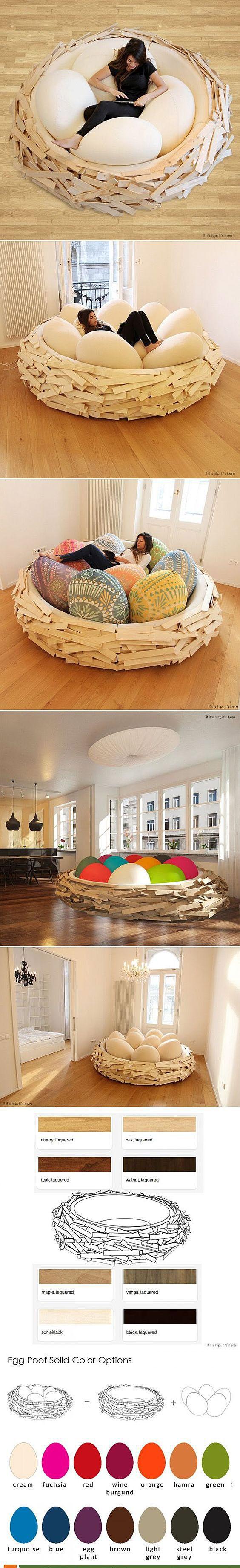 Мягкая мебель в виде гнезда