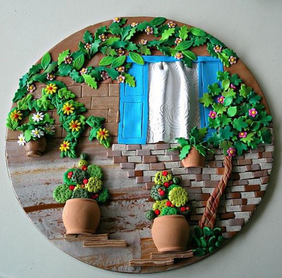 Картины из полимерной глины