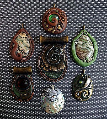 Кулоны из глины своими руками фото