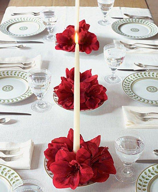 Цветы на тарелке
