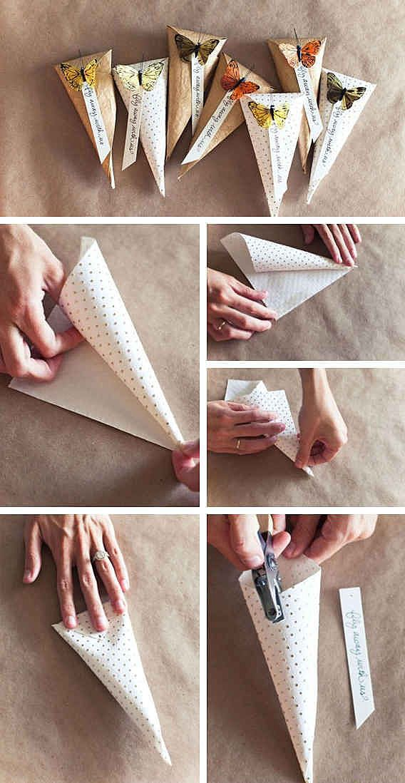 Конвертики из бумаги
