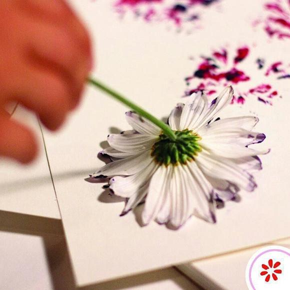 Рисование цветком