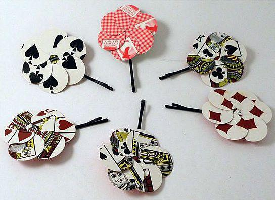 Цветы из игральных карт