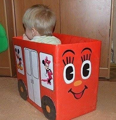 Как из коробки сделать коробку для игрушек своими руками