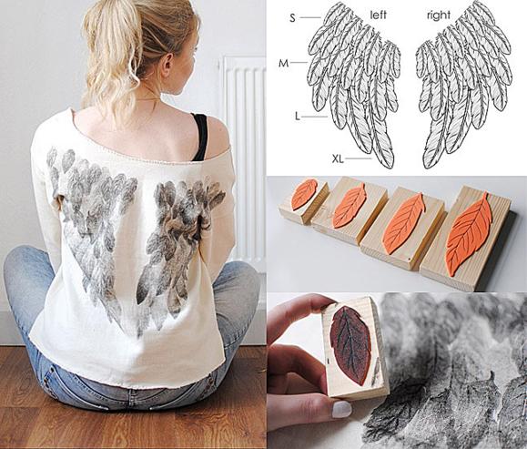 рисунок крыльев на спине кофты