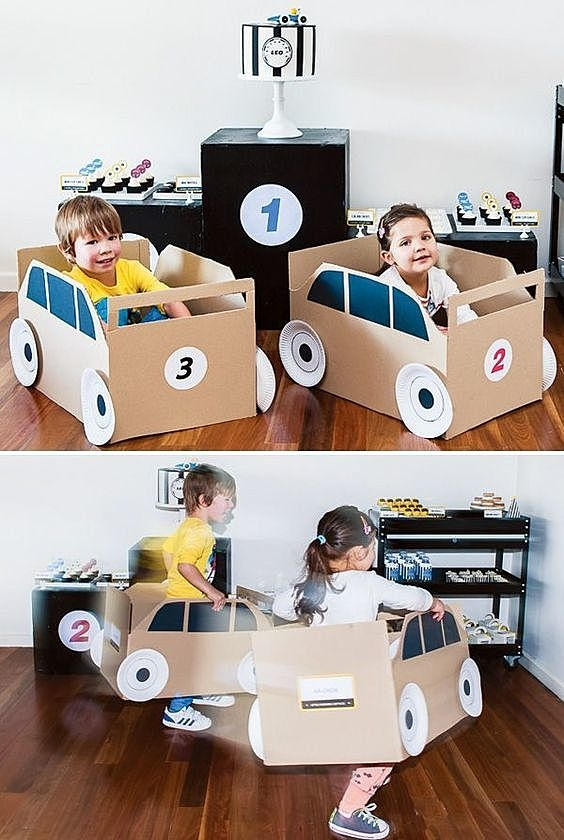 Машинки из коробок