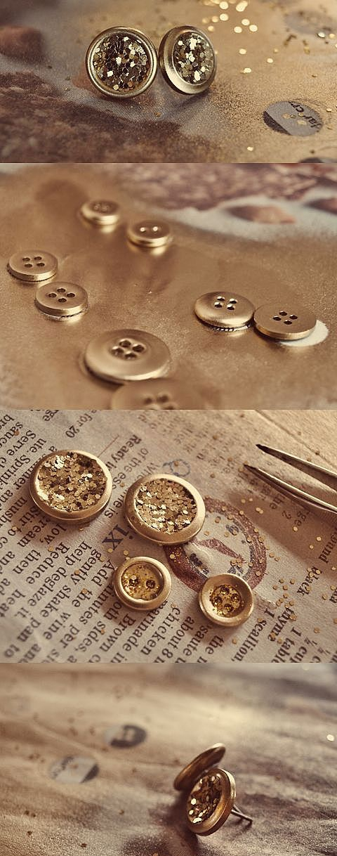 Золотистые сережки