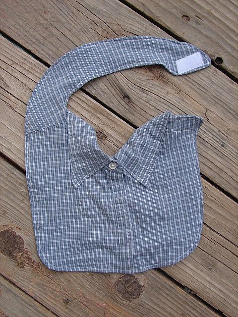 Слюнявчик из мужской рубашки