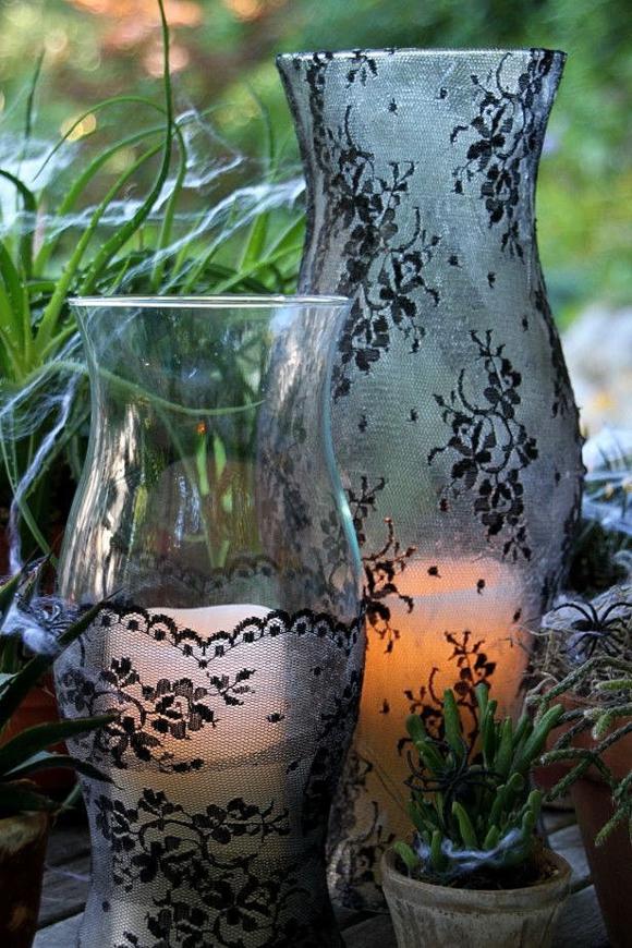 Подсвечник из вазы