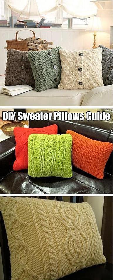 Наволочки из свитеров