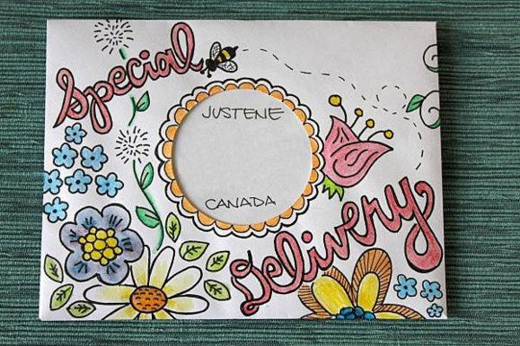 Разрисованный конверт