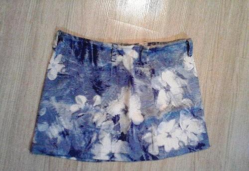 Необычная джинсовая юбка