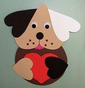 Валентинка в виде собачки