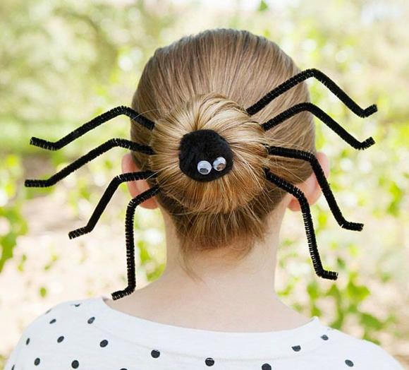 Прическа с пауком