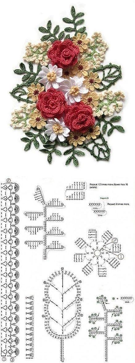 Букет цветов из пряжи