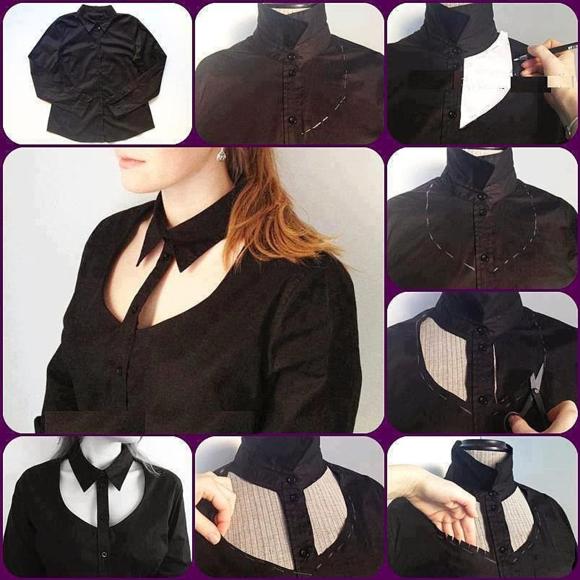 Декоративные прорези на рубашке