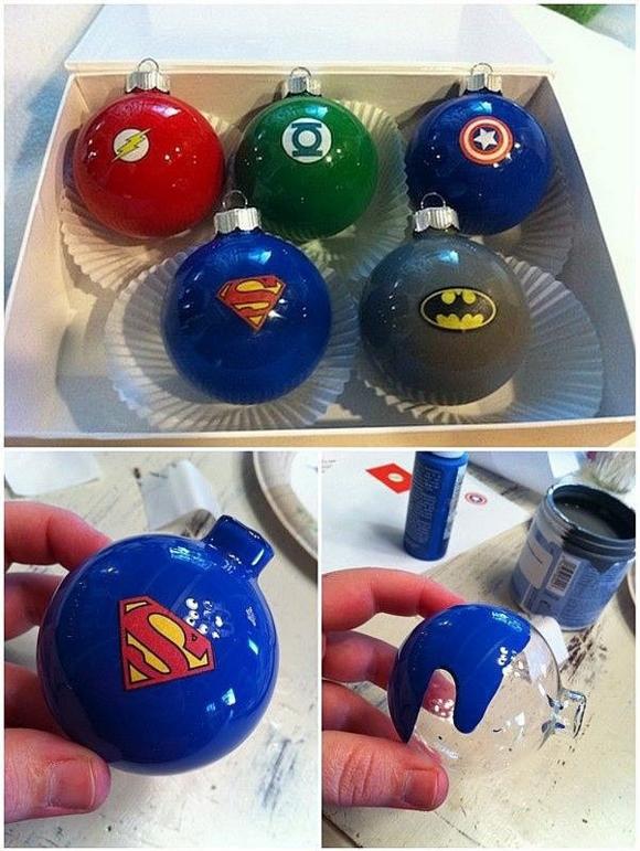 Ёлочные игрушки супергероев