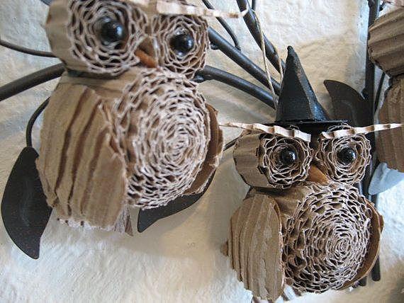 Картонные совы