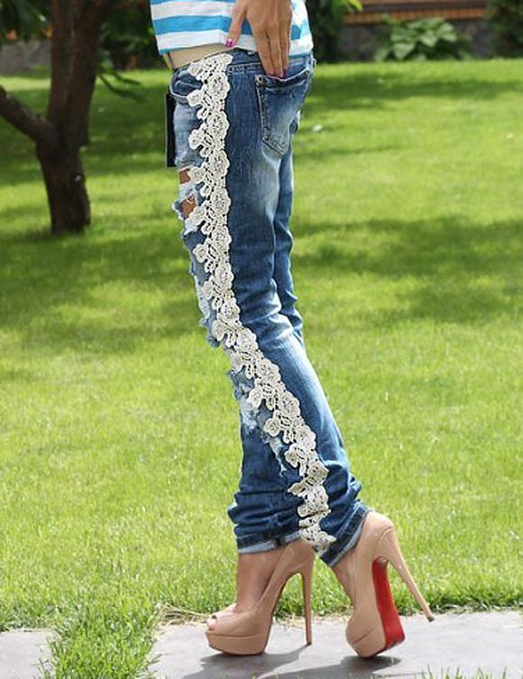 Декор джинсов