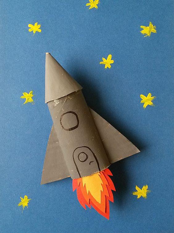 Поделки из бумаги своими руками ракета 2