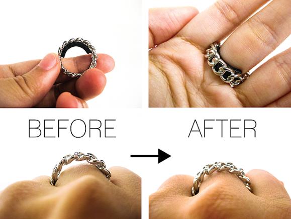 Способ уменьшить кольцо