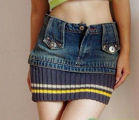 Удлинение юбки
