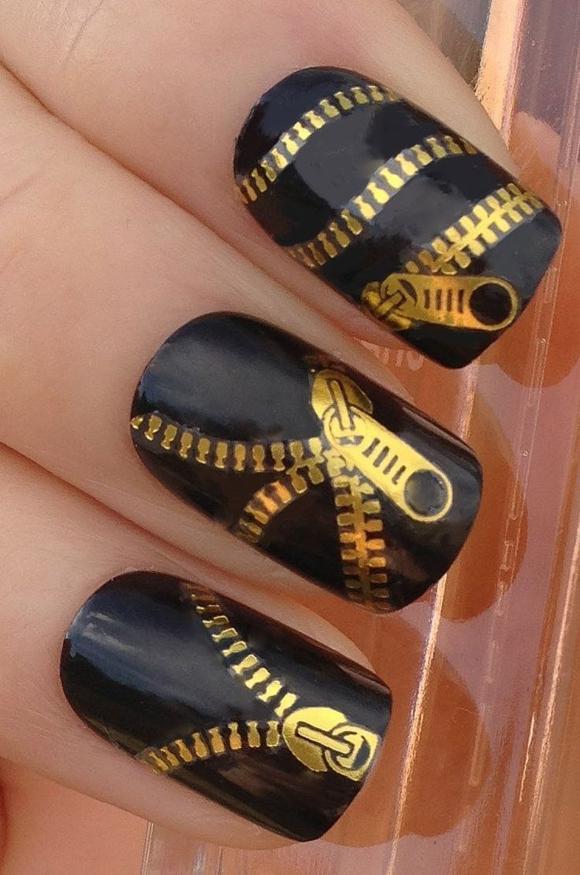 Дизайн ногтей наклейками на весь ноготь