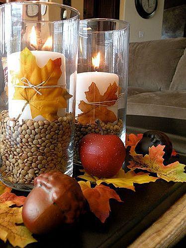 Осенний подсвечник