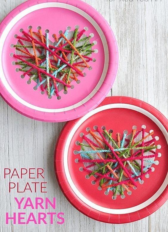 Поделки из тарелок и ниток
