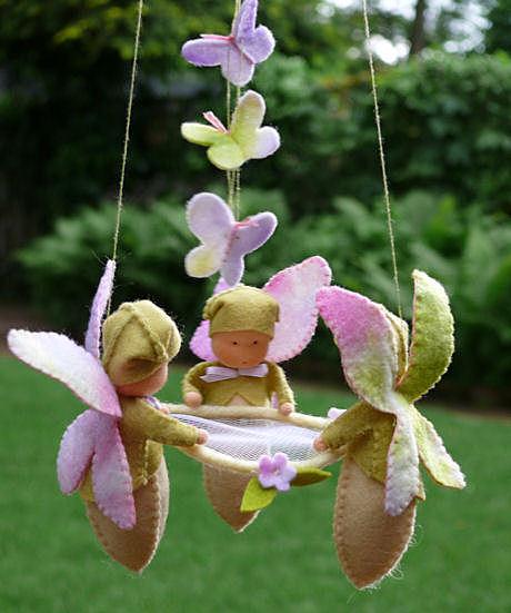 Бабочки из ткани