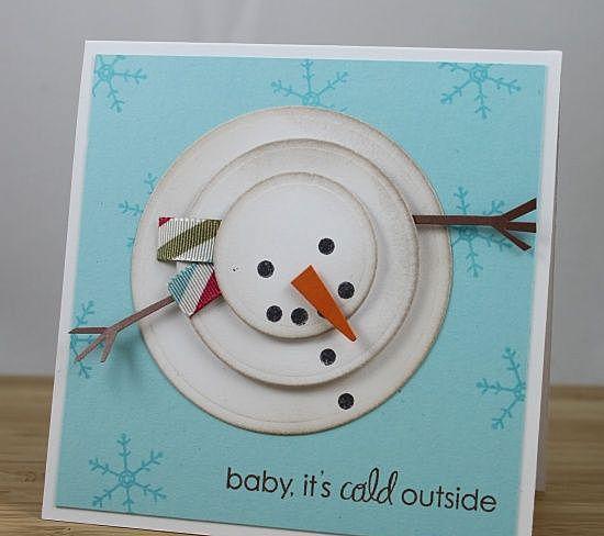 Снеговик из кружочков