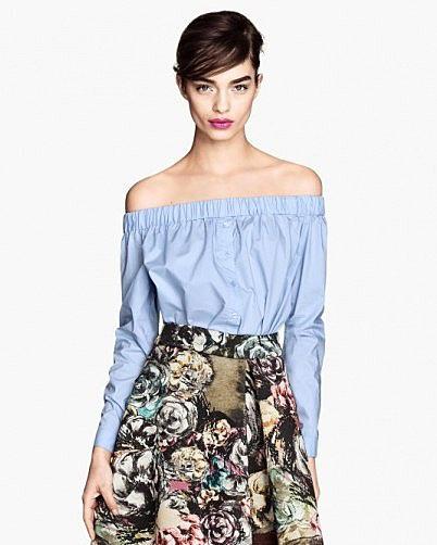 Блузка без плечиков