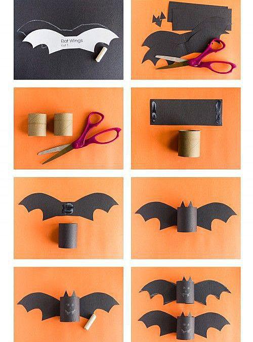 Летучие мыши из бумаги