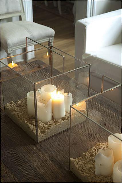 Аквариум со свечами