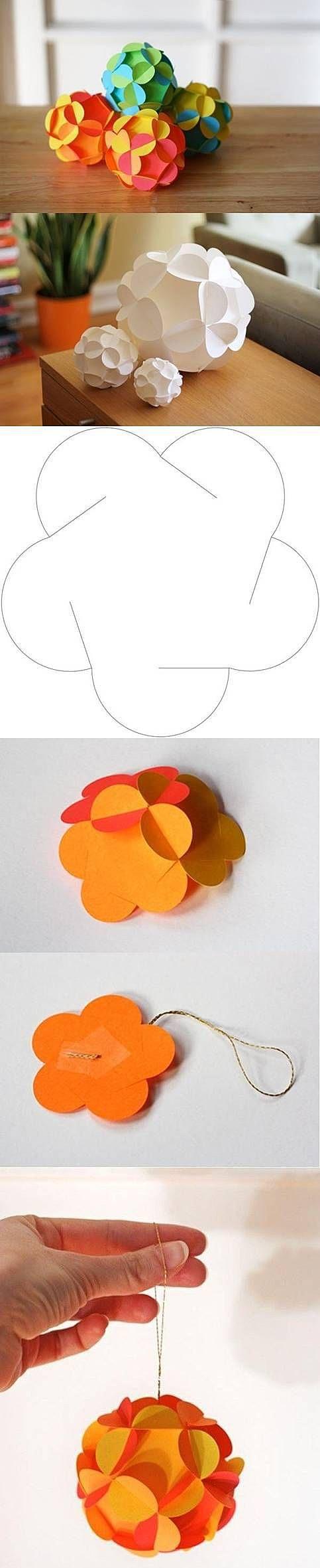 Замысловатые бумажные шары