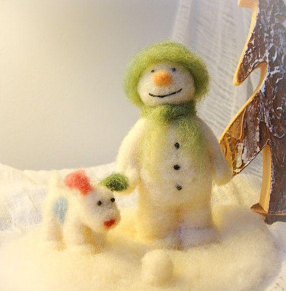 Снеговик с собачкой