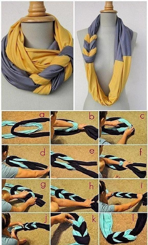 Сделать шарф хомут своими руками