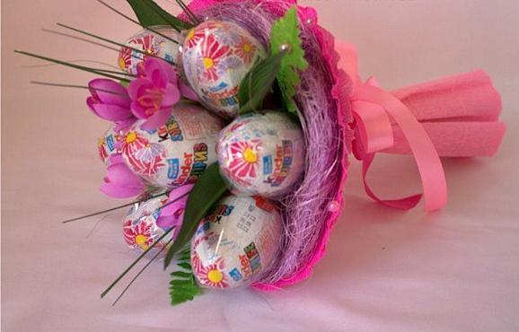 Букет с яйцами