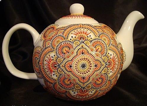 Роспись чайника