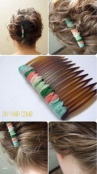 Гребень в волосах