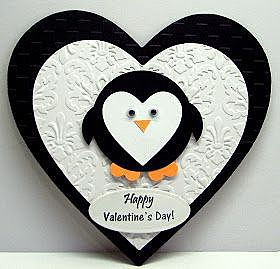 Валентинка с пингвичиком