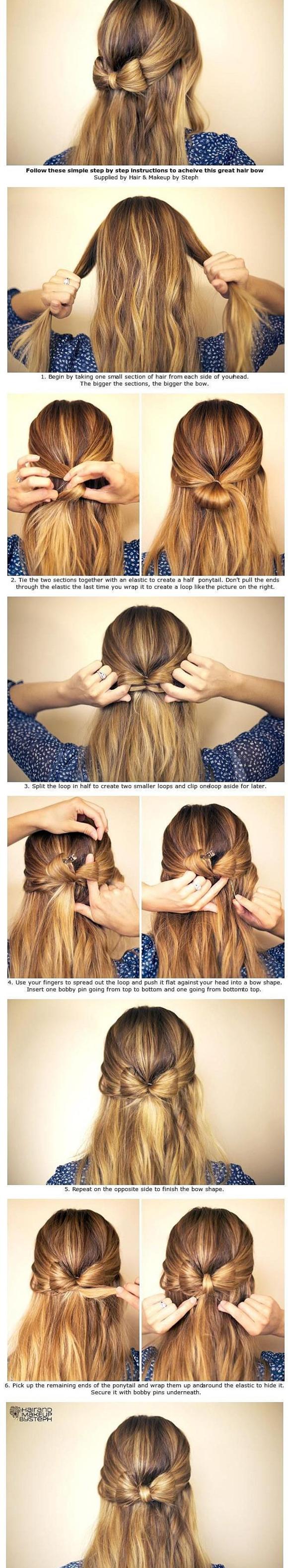 Бант из собственных волос