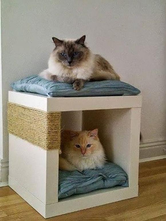 Лежанка и когтеточка для котов