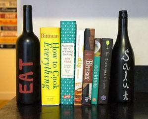 Книжные ограничители из бутылок