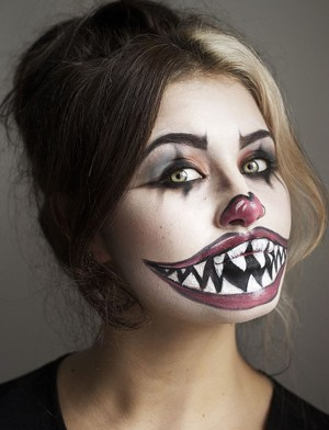 Scary girl clown