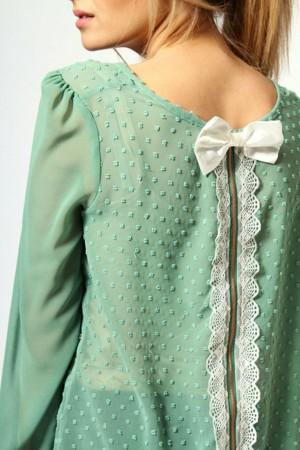 Декор одежды кружевом