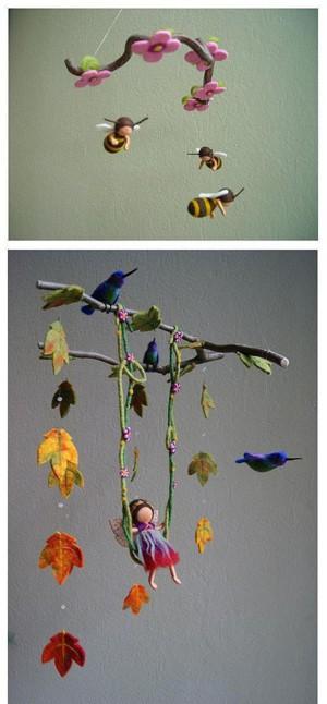 Пчелки из шерсти