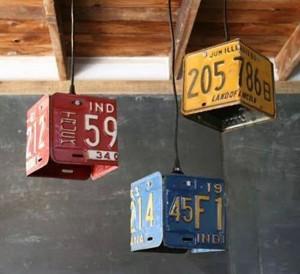 Светильники из номерных знаков