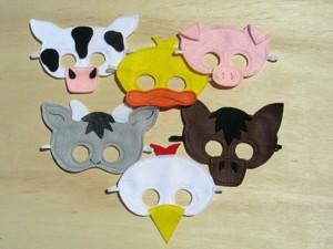 Простые маски животных и птиц