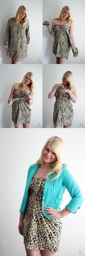 Платье из рубашки большого размера